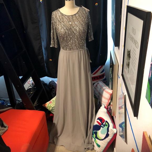 b4f9c0f43877 Adrianna Papell Dresses | Short Sleeve Chiffon Dress With Sequin ...